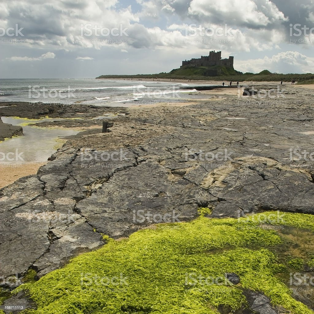 Bamburgh Castle in square format stock photo