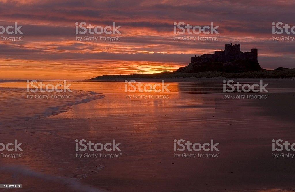 Bamburgh Castle stock photo