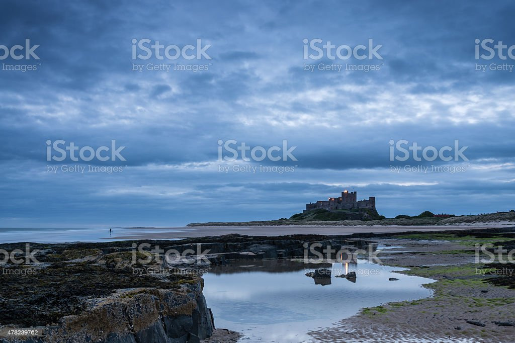 Bamburgh Castle pre dawn stock photo
