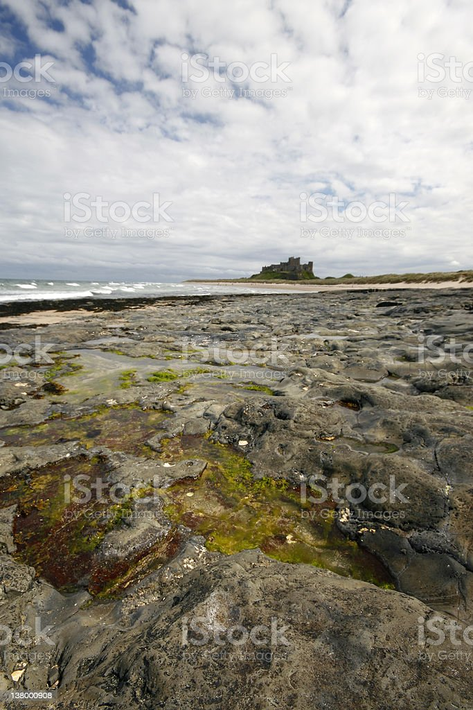 Bamburgh Castle shown in Portrait royalty-free stock photo