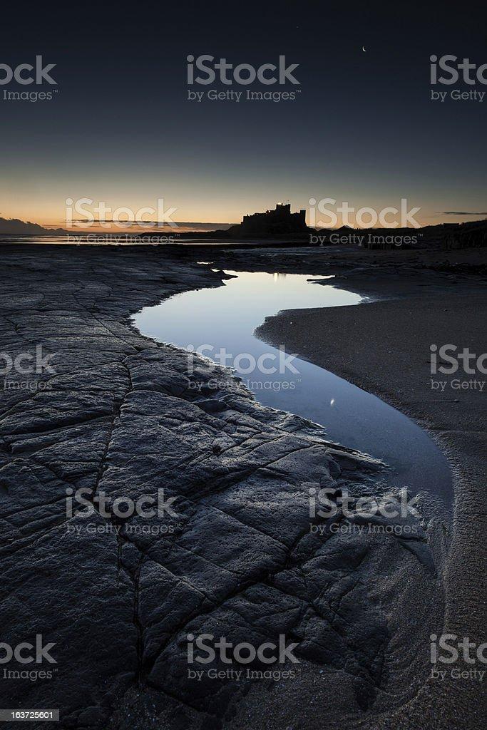 Bamburgh Dawn stock photo