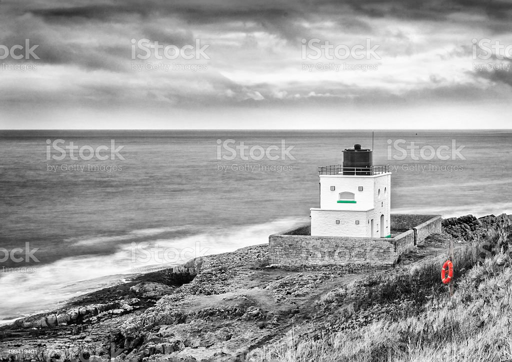 Bamburgh lighthouse stock photo