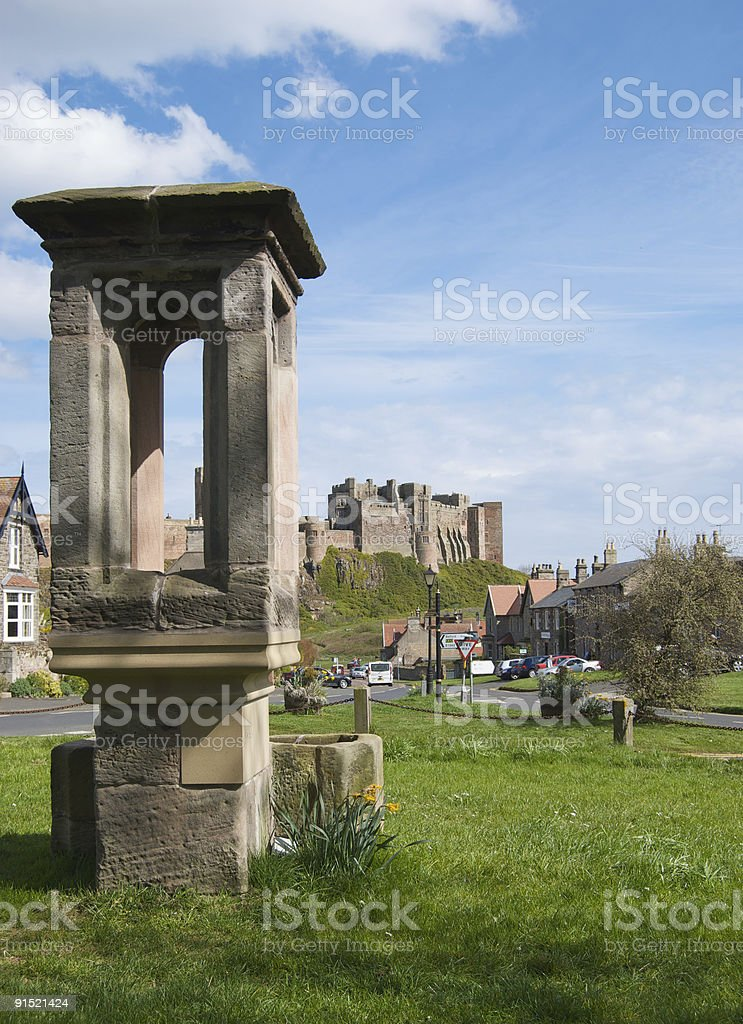 Bamburgh Village, Northumberland stock photo