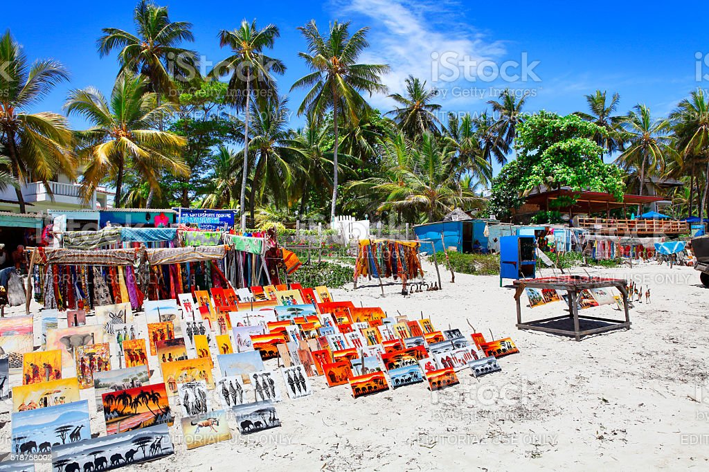 Bamburi Beach in Kenya stock photo