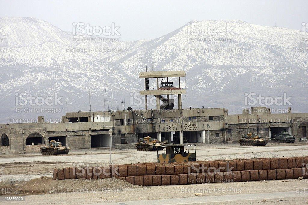 Bamerni Airport stock photo