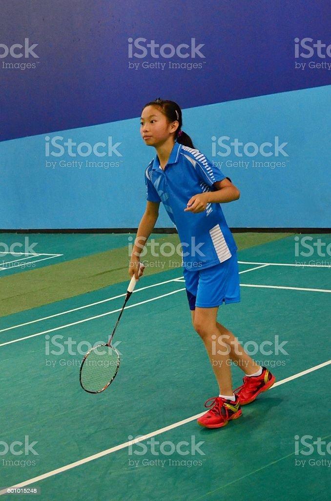 Baminton tournament stock photo