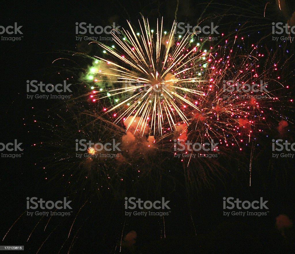 BaMm!  bOOm! FIREWORKS stock photo