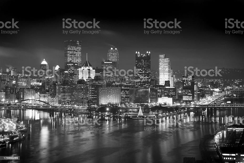 B&W Pittsburgh royalty-free stock photo
