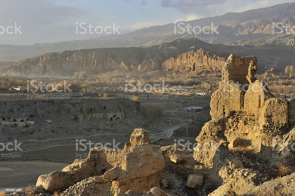 Bamyan at dusk stock photo