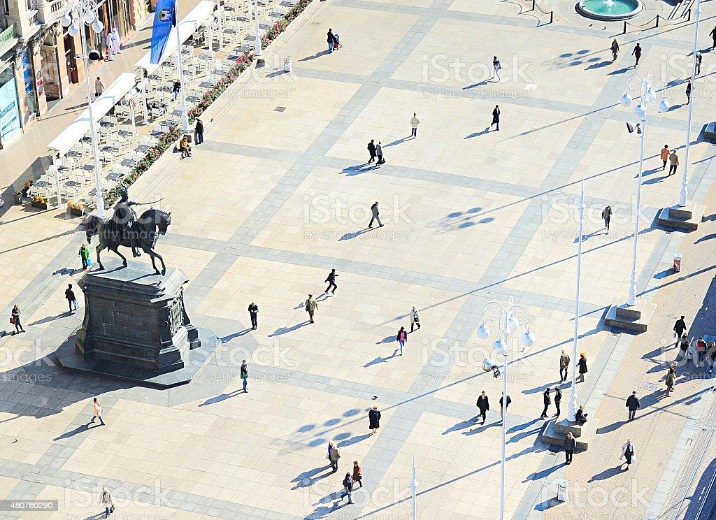 Ban Jelacic Square stock photo