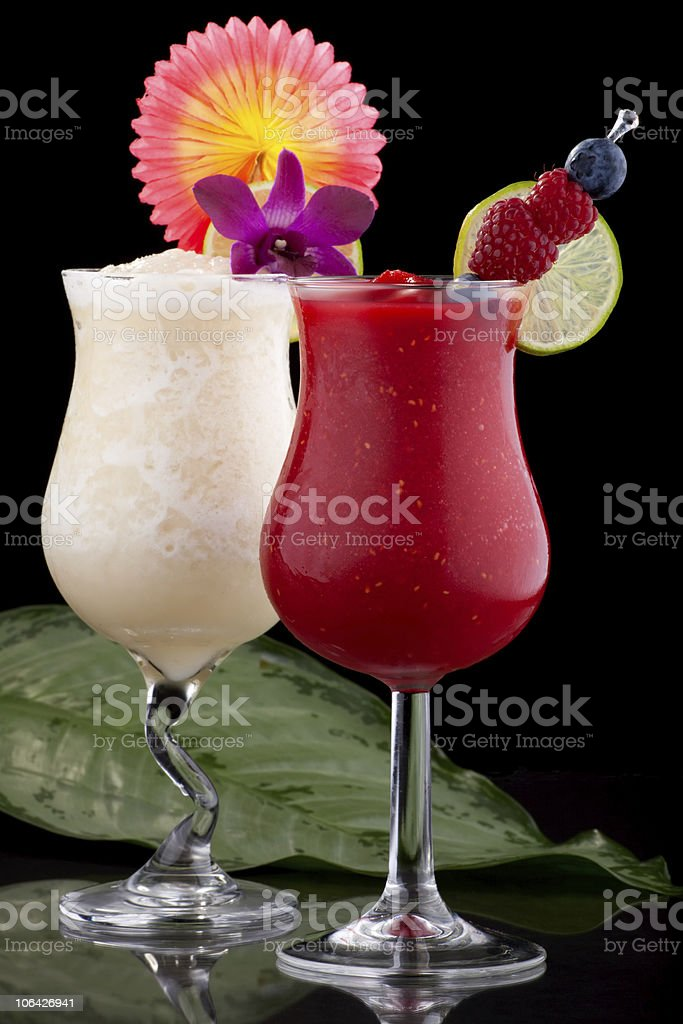 Banana and Raspberry Daiquiri - Most popular cocktails series stock photo