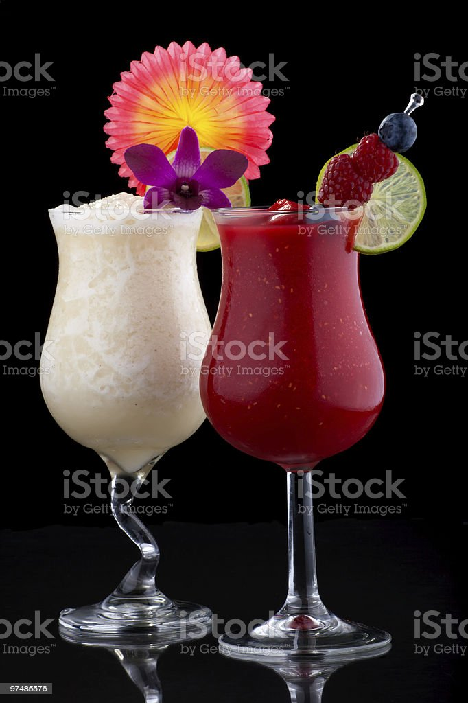 Banana and Raspberry Daiquiri - Most popular cocktails series stock photo