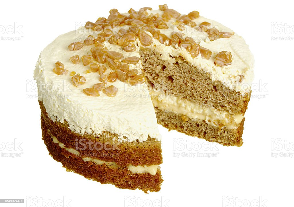 Banana And Toffee Or Banoffee Layer Cake stock photo
