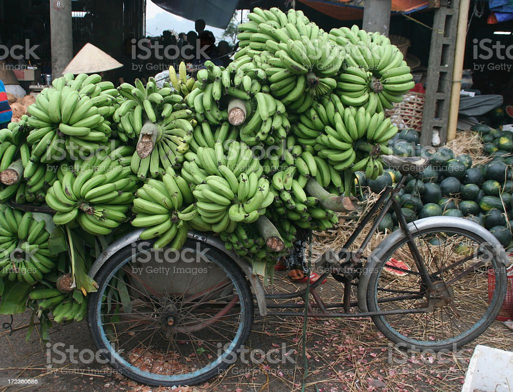 banana bike royalty-free stock photo