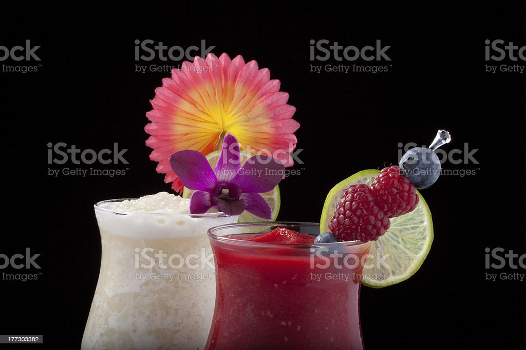 Banana, Blueberry and Raspberry Daiquiri - Most popular cocktails series stock photo