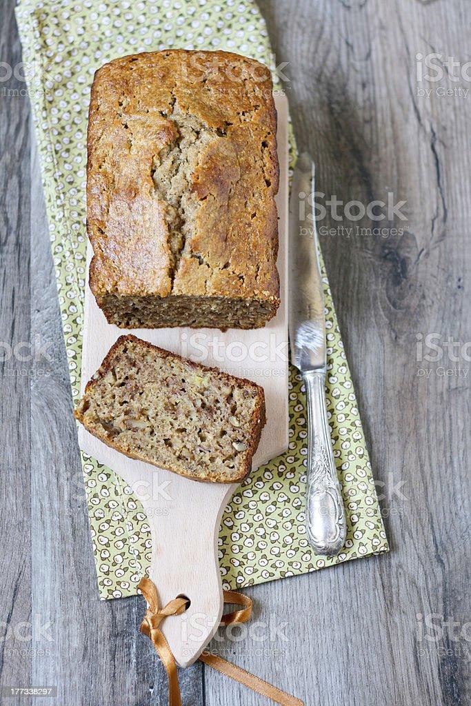 Banana breakfast loaf stock photo