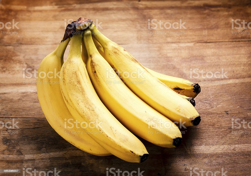 Banana bunch stock photo