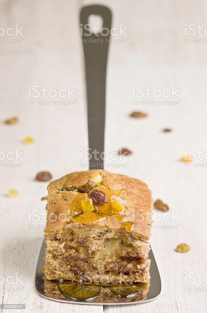 Banana cake stock photo