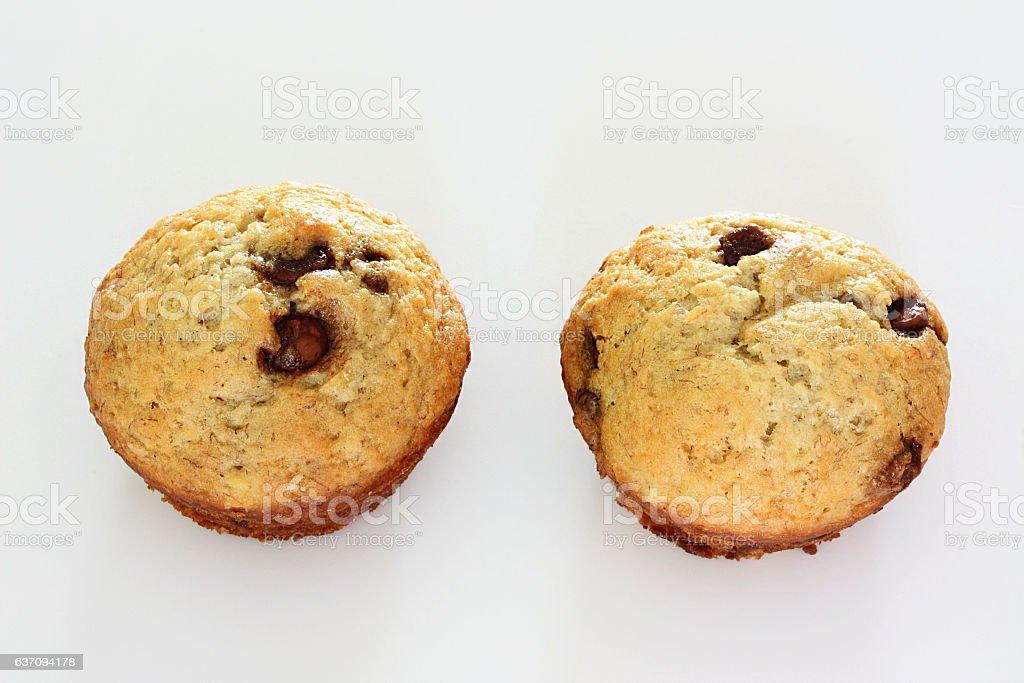 Banana Chocolate Chip Muffins stock photo