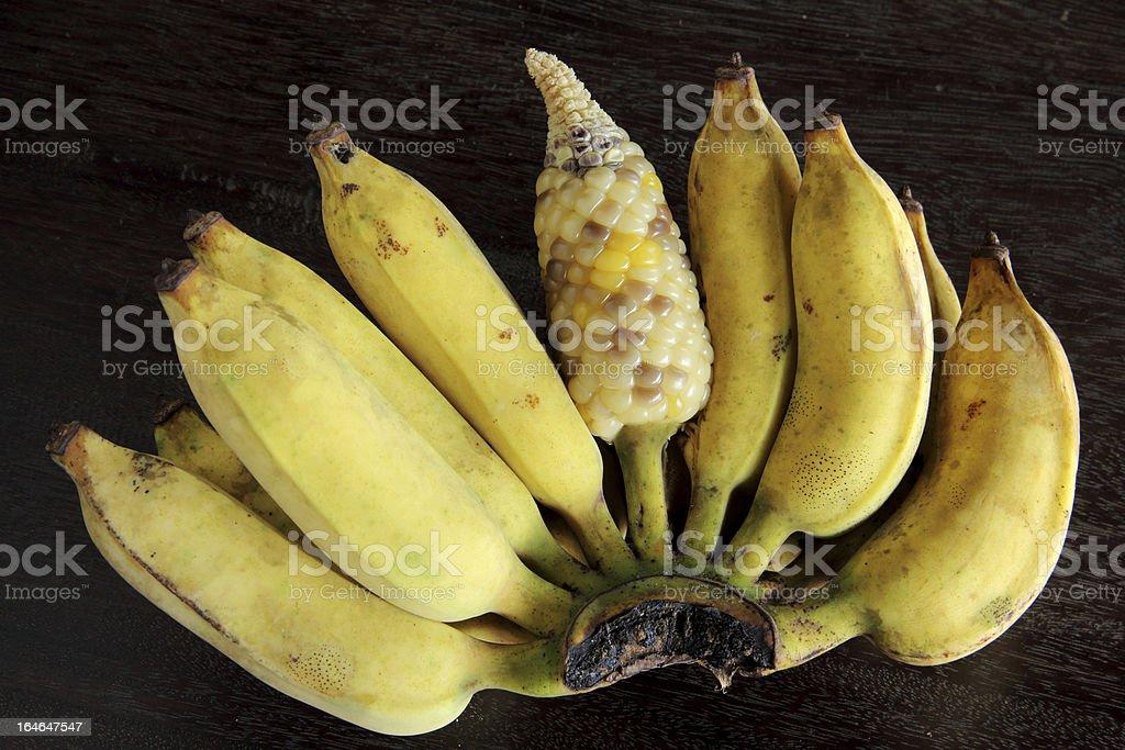 Banana corn royalty-free stock photo