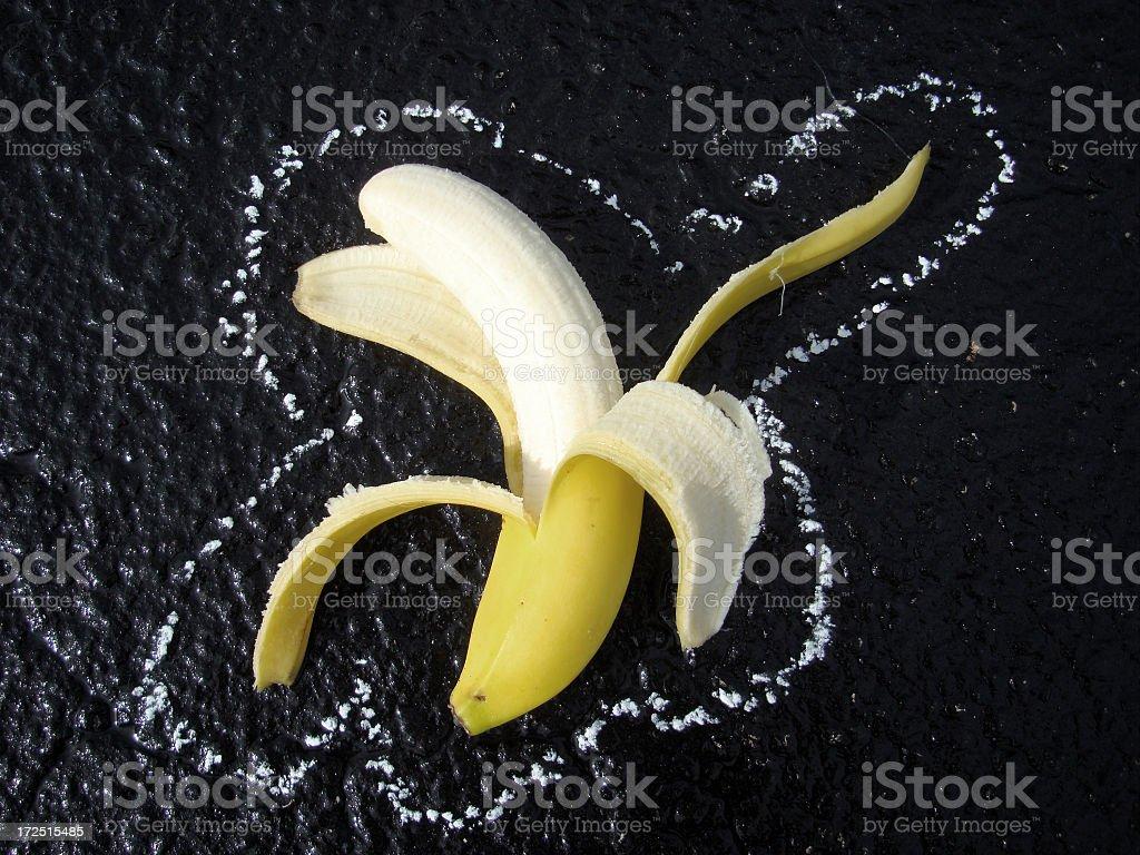 Banana Crime Scene stock photo