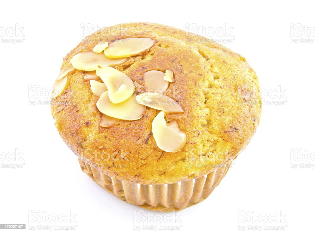 Banana cupcake royalty-free stock photo