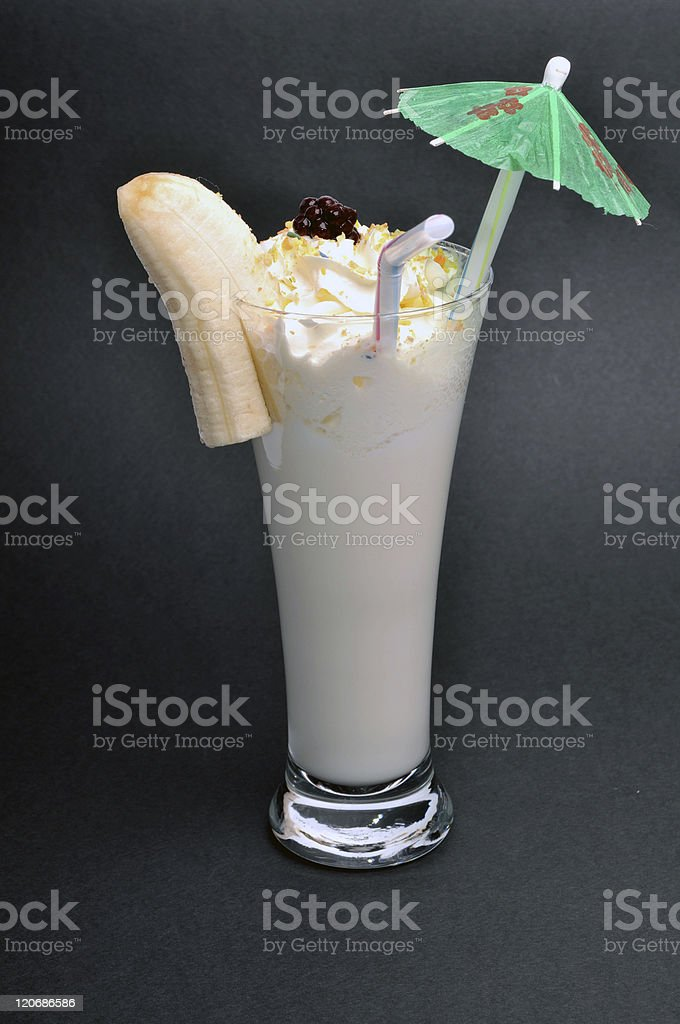 Banana drink stock photo