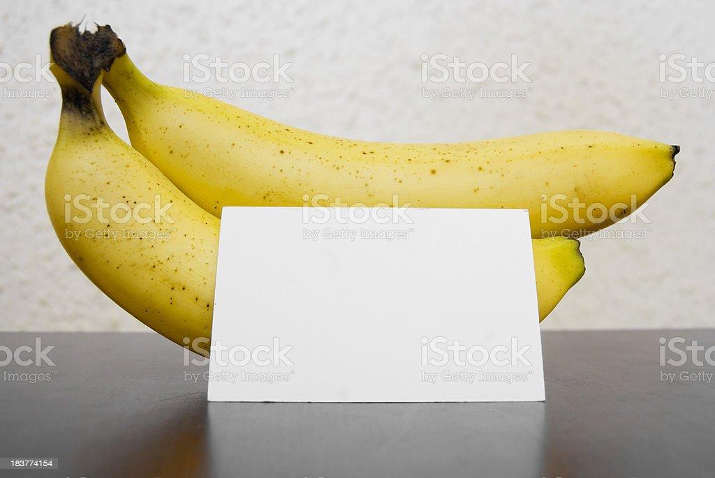 banana fruits with note stock photo