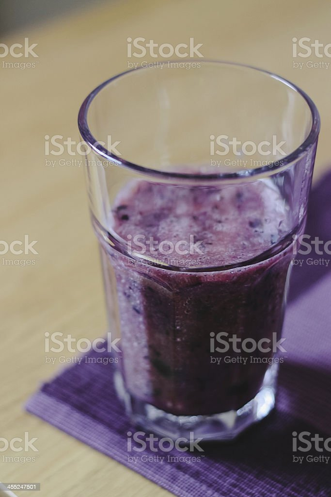 Banana grape smoothies royalty-free stock photo