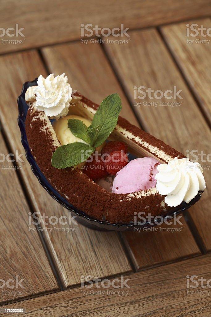 banana ice cream royalty-free stock photo