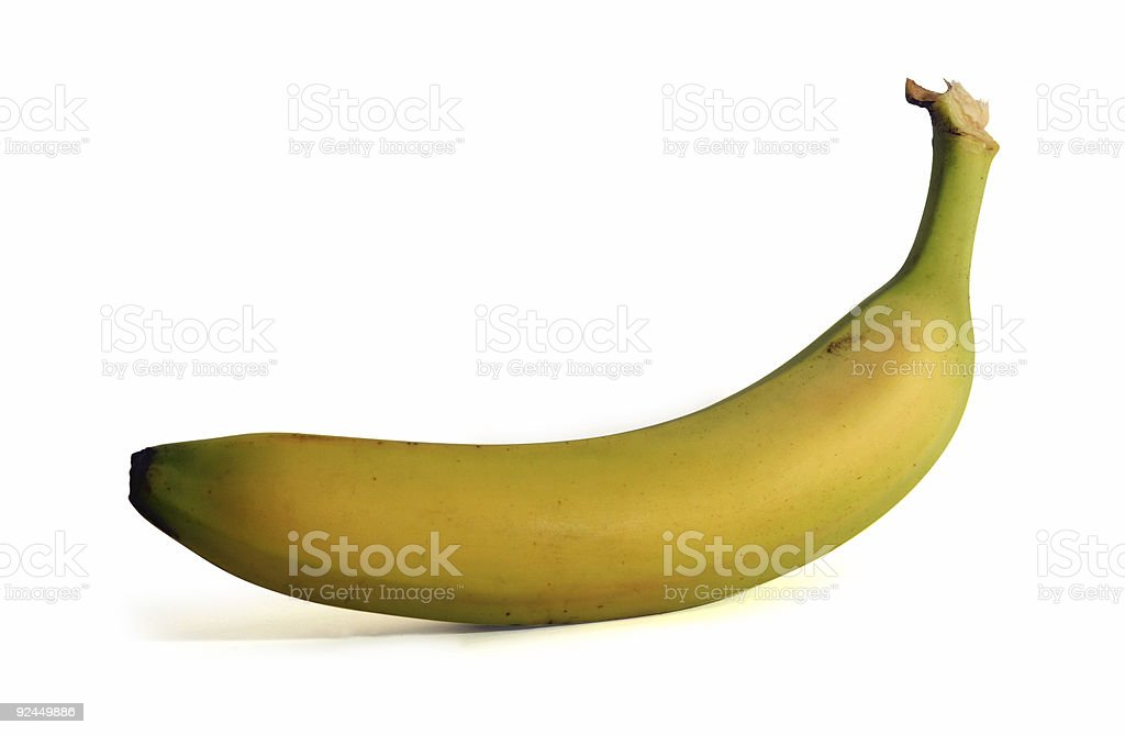 Banana isoalated on white background with clipping path royalty-free stock photo
