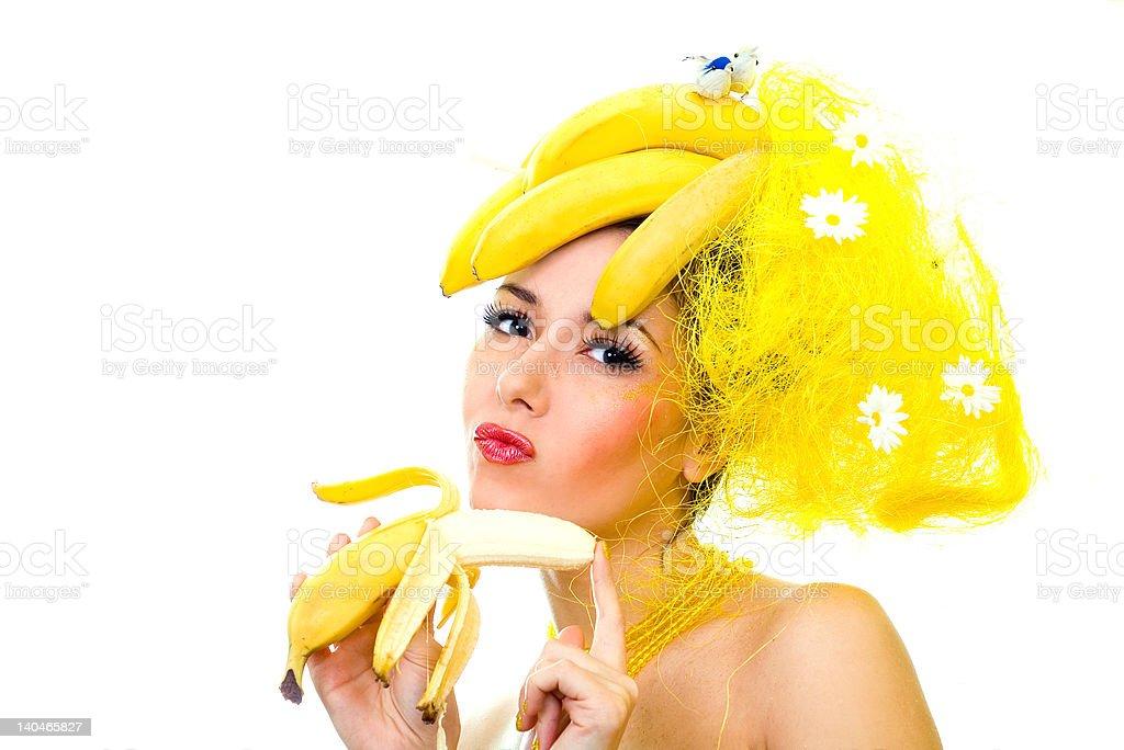 Banana lady royalty-free stock photo