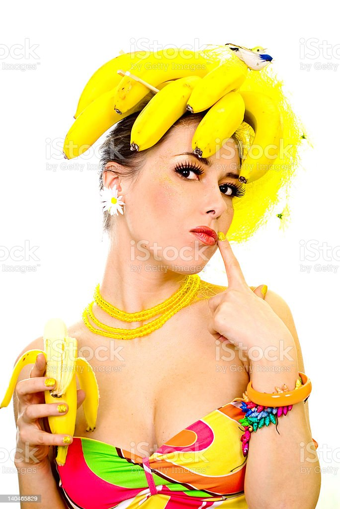 Banana lady royalty-free stock photo