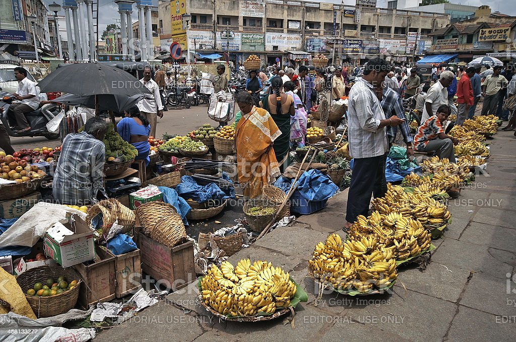 Banana Market stock photo