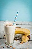 Banana milkshake or smoothie