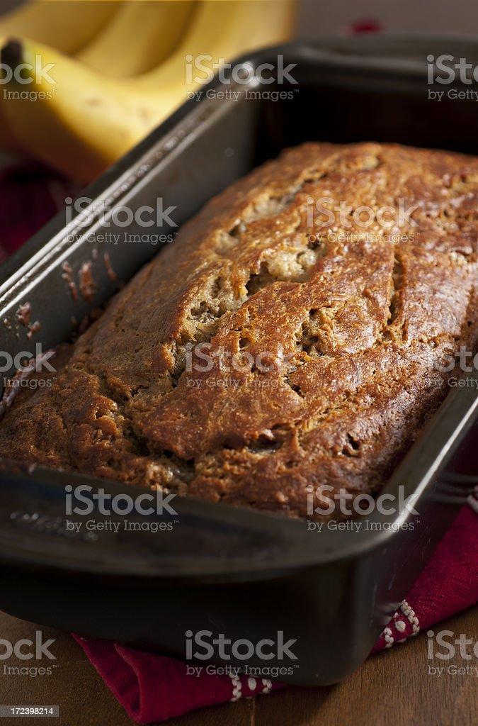 Banana Nut Bread stock photo