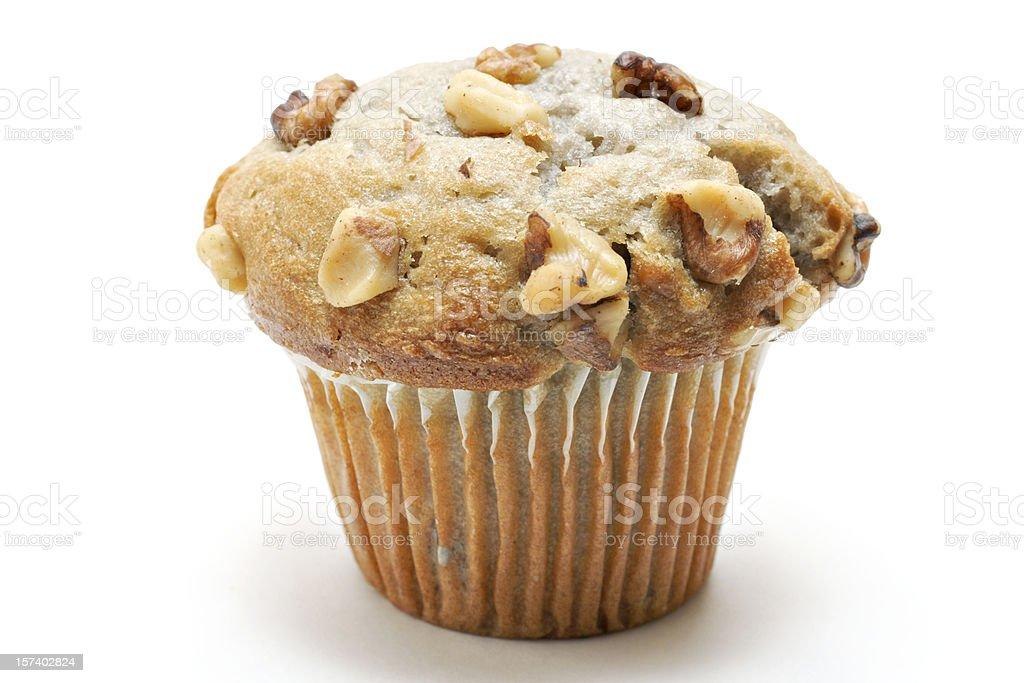 banana nut muffin royalty-free stock photo