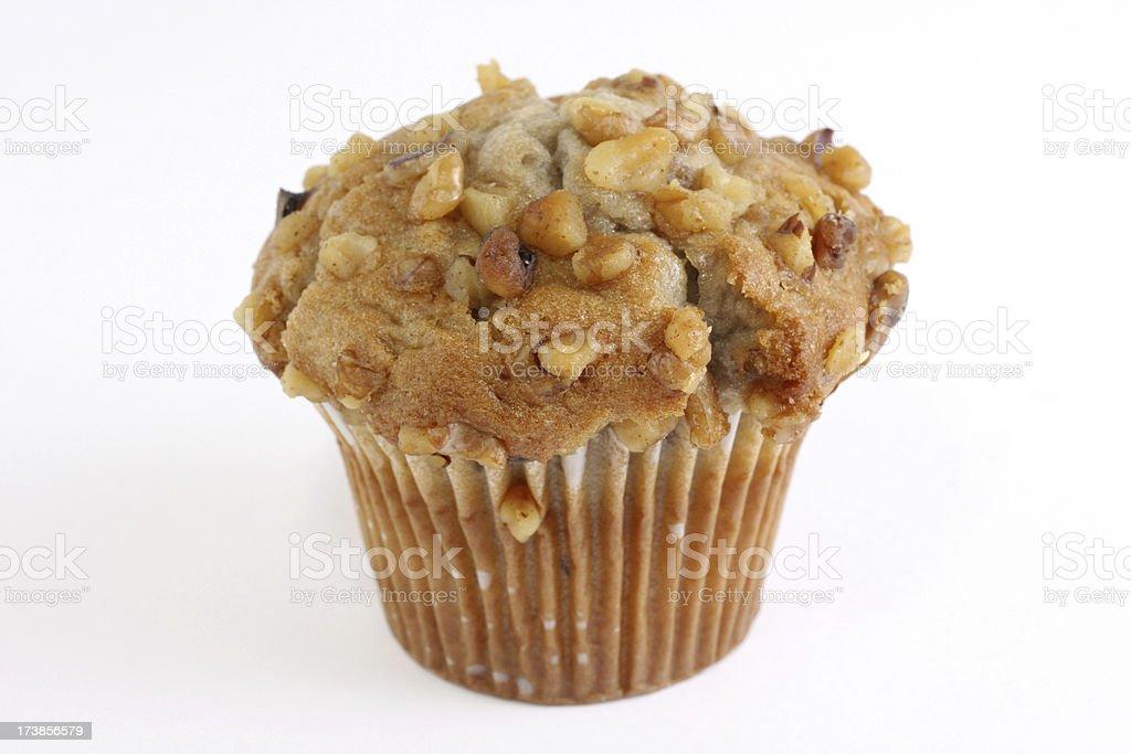 banana nut muffin stock photo