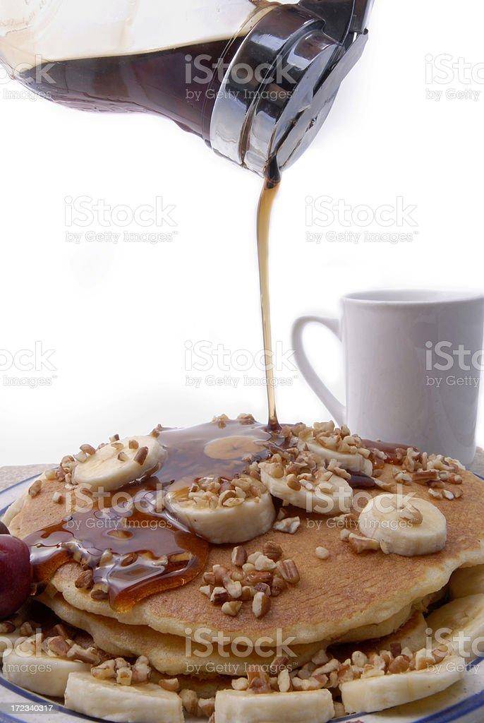 Banana Nut Pancakes royalty-free stock photo