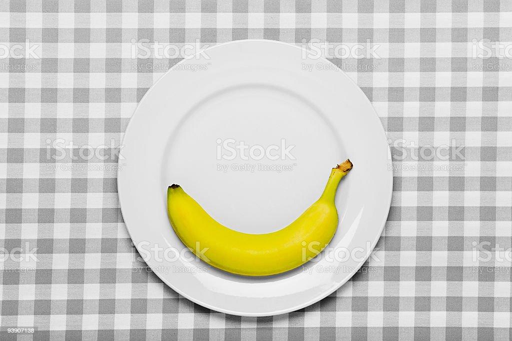 Banana on a plate stock photo