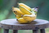 Banana on wooden chair