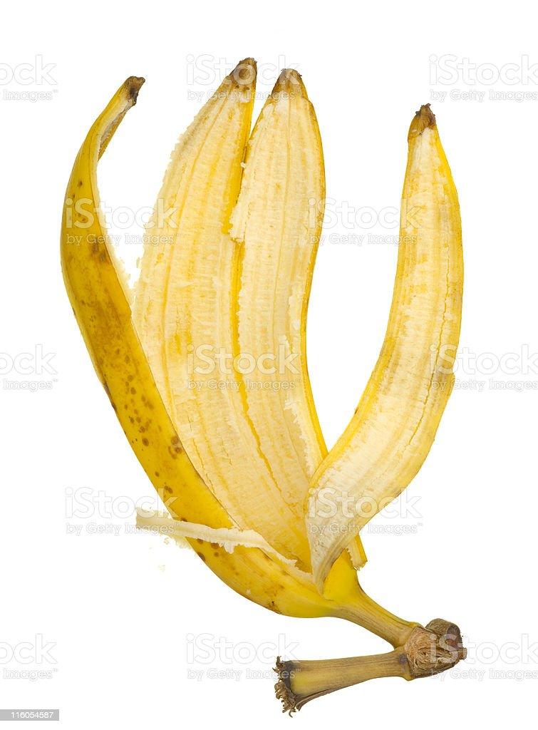 banana peel royalty-free stock photo