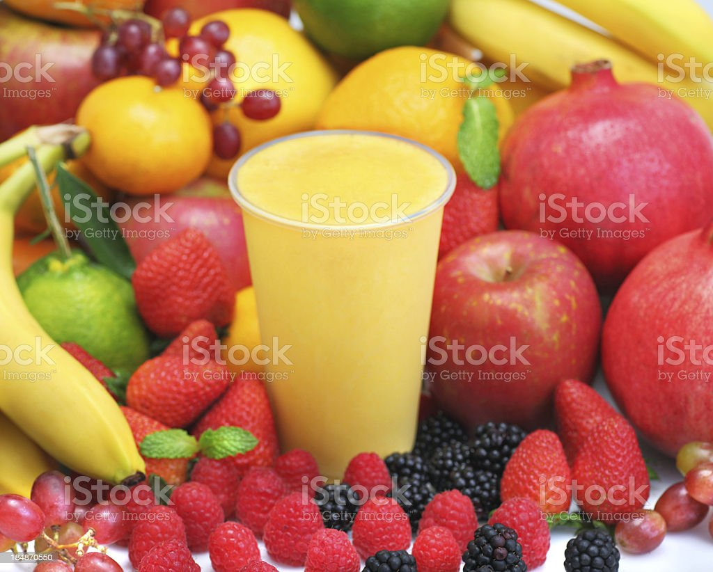 Banana Pineapple Smoothie stock photo