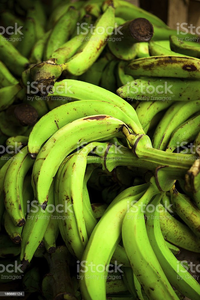 banana plantain in a pallets stock photo