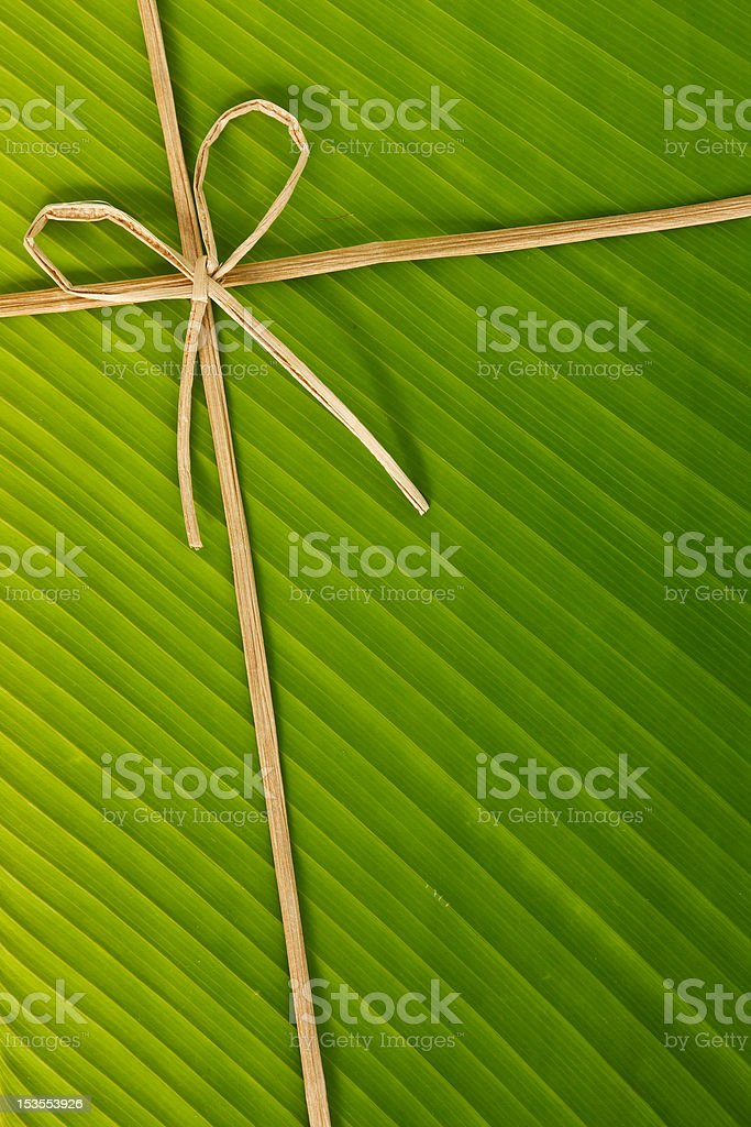 banana rope and  leaf royalty-free stock photo