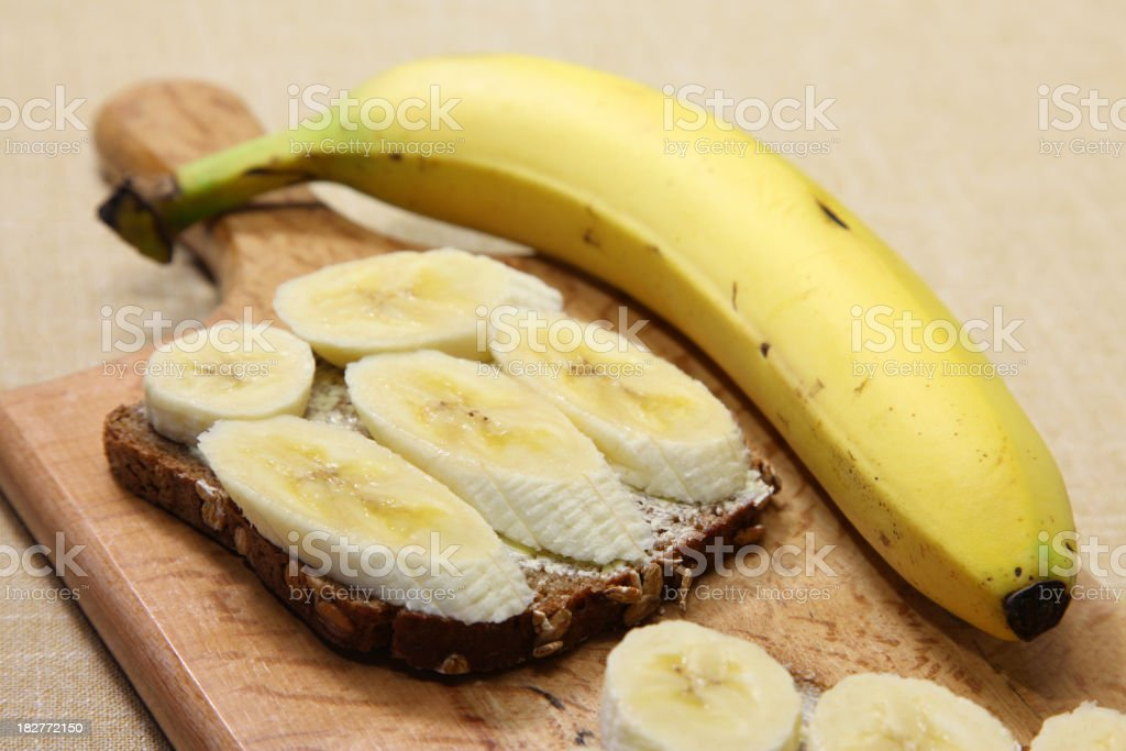 Banana Sandwich royalty-free stock photo