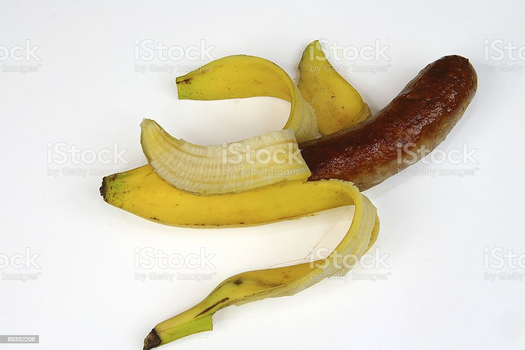 banana sausage royalty-free stock photo