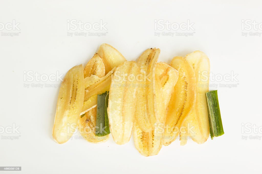 Banana scrisp stock photo