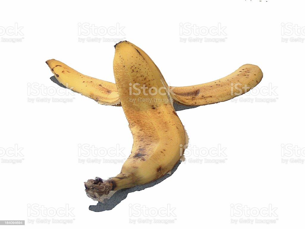 banana skin 1 royalty-free stock photo
