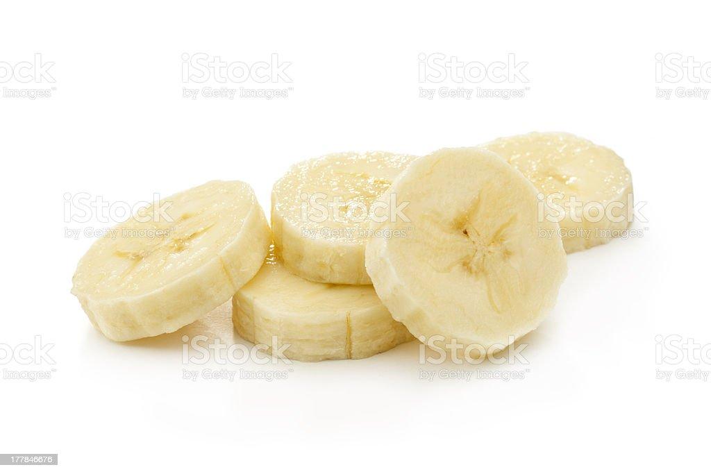banana slices stock photo